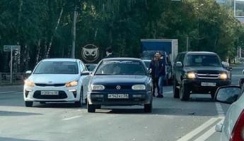 Тройное ДТП в центре Пензы спровоцировало серьезный затор