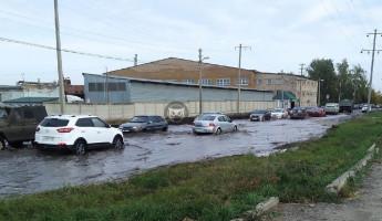 «Затопило». Одна из пензенских улиц превратилась в канал