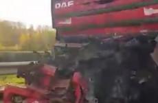 На трассе М5 под Пензой столкнулись три фуры