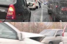 В Монтажном из-за ДТП на перекрестке собралась пробка