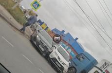 В пензенском микрорайоне Север угодили в ДТП две иномарки
