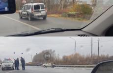 На окраине Пензы жестко столкнулись две машины