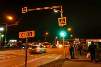 На улице Антонова в Пензе заработал новый светофор