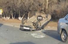 ДТП с перевернувшейся машиной прокомментировали в пензенском УГИБДД