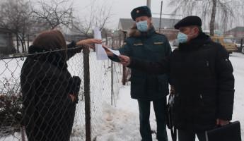 В селе Засечное прошел профилактический рейд в связи с со сложной пожароопасной обстановкой