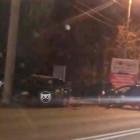 На улице Аустрина в Пензе машина врезалась в столб