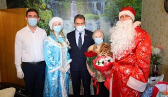 Валерий Лидин поздравил ветерана ВОВ с Новым годом и Днем рождения