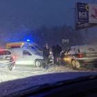 На Ахунском переезде в Пензе угодили в аварию две машины