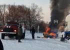 В Пензенской области прямо на заправке загорелась машина