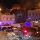 Центр Пензы перекрыли из-за пожара в военном госпитале