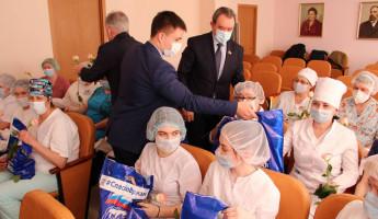 В Пензе передали продукты врачам областной детской больницы имени Филатова