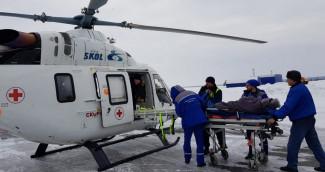 В Пензенской области эвакуировали на вертолете двух пациентов