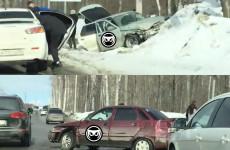 В Пензе в жесткой аварии разбились две легковушки