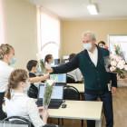 Иван Белозерцев поздравил с наступающим праздником женщин и девушек социально-педагогического колледжа