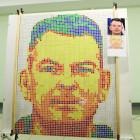 Пензенские школьники создали необычный портрет космонавта Самокутяева