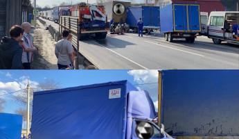 В Пензенской области образовалась огромная пробка в результате смертельного ДТП