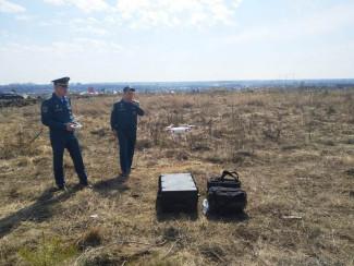В Пензе для мониторинга пожароопасных районов используют квадрокоптер