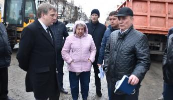 В Пензе состоялось совещание по организации работ на улице Московской