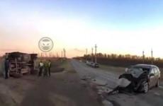 Последствия серьезной аварии под Пензой попали на видео