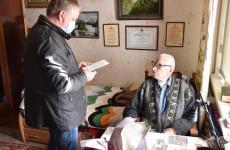Мэр Пензы зачитал ветерану войны открытку от школьников