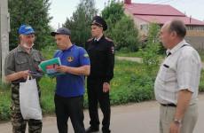 В Пензе рассказали о пожарной безопасности жителям микрорайона Заря