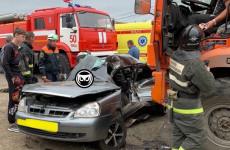 Жуткая авария под Пензой: машина превратилась в железный фарш. ФОТО