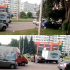 Сразу три машины столкнулись на проспекте Строителей в Пензе
