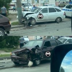 В жестком ДТП на улице Аустрина в Пензе пострадали три человека