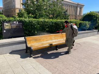 В Пензе возобновлены работы по дезинфекции общественных пространств