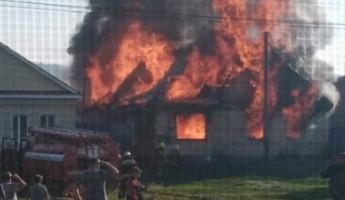 В Пензенской области горящий дом попал в объективы фотокамер