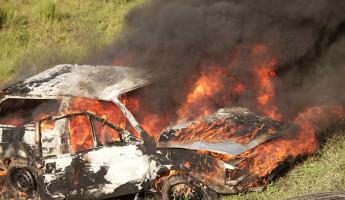 Ночью в селе под Пензой огонь уничтожил автомобиль