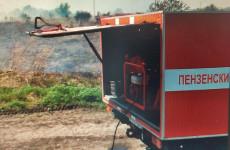 В СНТ под Пензой загорелась сухая трава