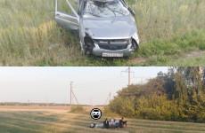 На трассе «Тамбов – Пенза» перевернулся автомобиль