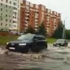 «Речные» прогулки по городу. Дороги Пензы вновь ушли под воду. ВИДЕО