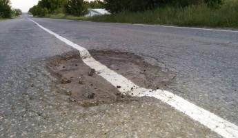 В Пензе дорожную разметку рисуют прямо поверх ям