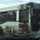 В Пензе на 8 марта горел пассажирский автобус