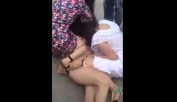 Полуголые проститутки устроили драку посреди дороги