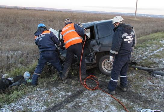 Утром вПензенском районе ДТП стремя автомобилями забрало  жизнь мужчины