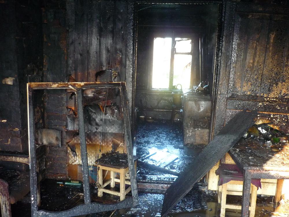ВЗаречном впожаре погибла 58-летняя женщина