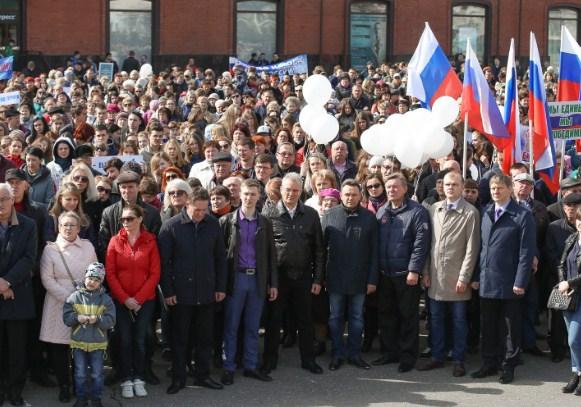 ВПензе намитинг гражданской солидарности пришло 5 тыс. человек