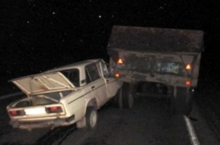 ВБессоновском районе столкнулись отечественная легковушка и«КамАЗ»