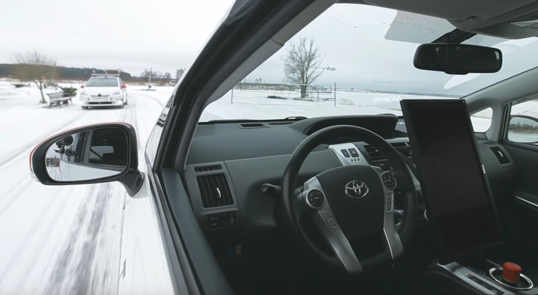 Столичная область: Беспилотный автомобиль испытали взимних условиях