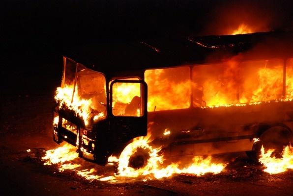 ВПензенской области утром загорелась иностранная машина Ауди A4