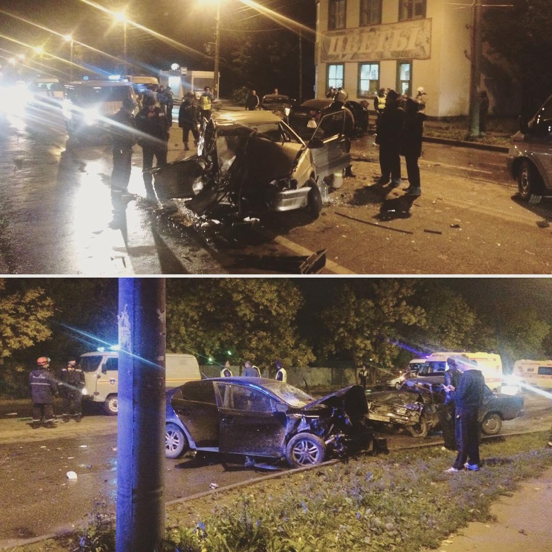 Пятеро мужчин пострадали втройном ДТП вПензе