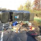 В Пензенской области «УАЗ Патриот» перевернулся после столкновения с фурой