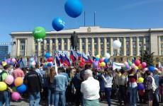 Пензенцы отметили Первомай митингом на площади Ленина