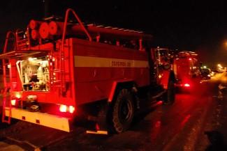 В Пензенской области ночью сгорел жилой дом