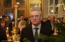 Иван Белозерцев помолился на Рождественском богослужении