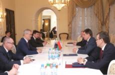 Иван Белозерцев обсудил вопросы сотрудничества с белорусским послом Игорем Петришенко