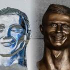 Пензенский скульптор вырезал Криштиану  Роналдо изо льда